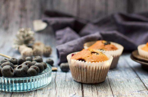 Frühstücksmuffins mit Heidelbeeren