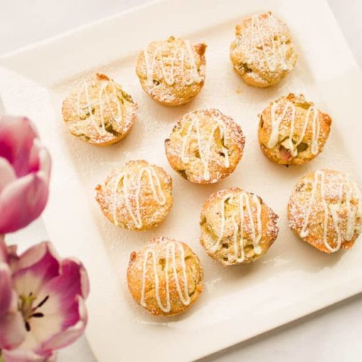 Vanilla rhubarb muffins